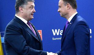 Petro Poroszenko podziękował Andrzejowi Dudzie za odesłanie ustawy o IPN do Trybunału Konstytucyjnego