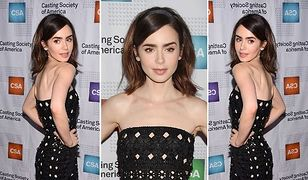 LOOK OF THE DAY: Lily Collins w ażurowej kreacji
