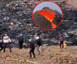 Za plecami szalał gorący wulkan, a oni?! To wideo po prostu trzeba zobaczyć