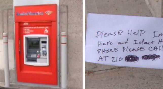 Serwisant zatrzasnął się w bankomacie. Klienci nie mogli uwierzyć, w to co robił