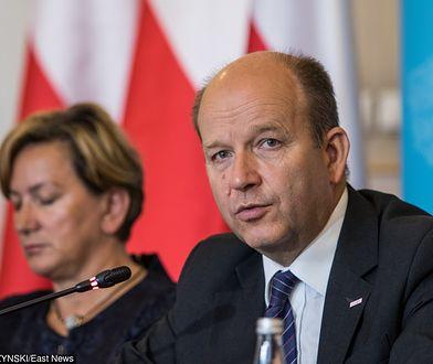 Wiceminister zdrowia Józefa Szczurek-Żelazko na konferencji z ministrem Konstantym Radzwiłłem