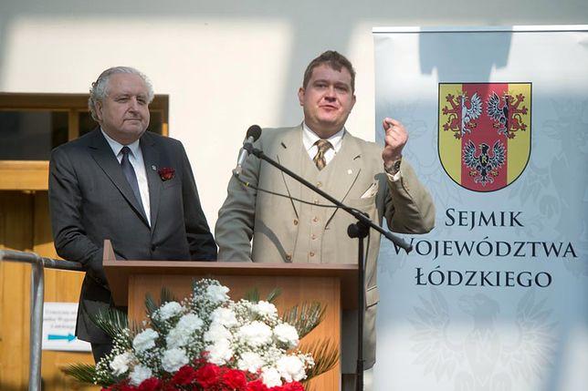 Andrzej Rzepliński i radny PiS Michał Król