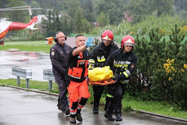Tatry. Giewont. Akcja ratunkowa po burzy trwa.