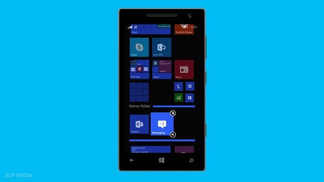 Tworzenie folderów w Windows Phone 8.1 Update 1