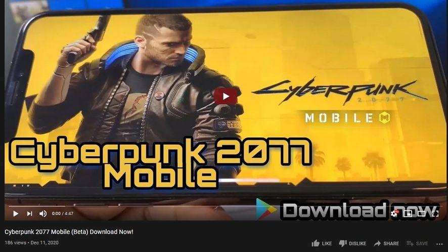 Cyberpunk 2077 Mobile niestety nie istnieje /fot. YouTube