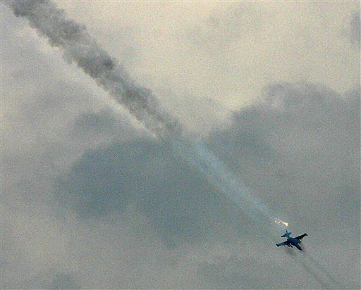 Rosyjskie samoloty ostrzelały bazę wojskową koło Tbilisi