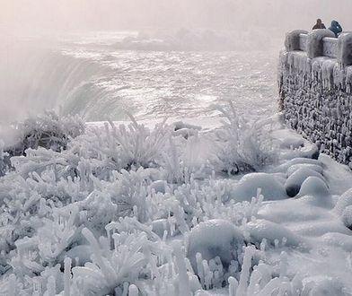 Niagara zamienia się w sople lodu