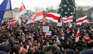 Mińsk. Białorusini przeciwko uzależnianiu kraju od Rosji.
