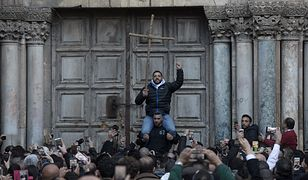 Pielgrzymi znowu mogą wejść do Bazyliki Grobu w Jerozolimie. Spór o pieniądze i nieruchomości nie został rozwiązany