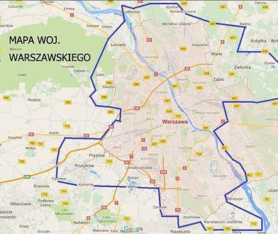 Bez Wawra, ale z Ząbkami. Mamy mapę nowego województwa warszawskiego