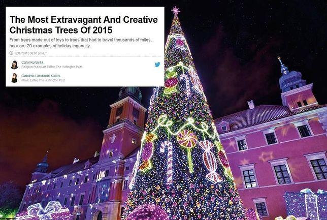 """Warszawska choinka w TOP 20 """"Najbardziej ekstrawganckich i kreatywnych na świecie"""""""