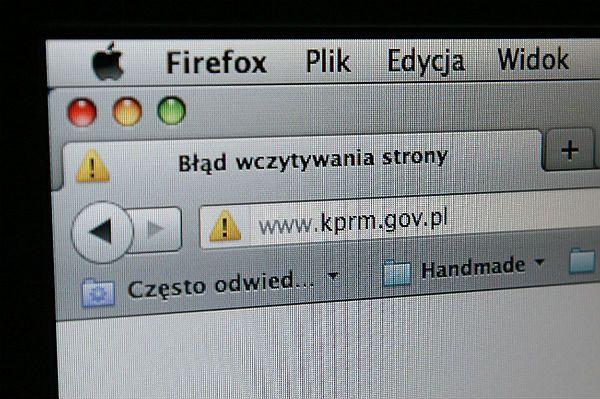 Błąd wczytywania strony internetowej KPRM