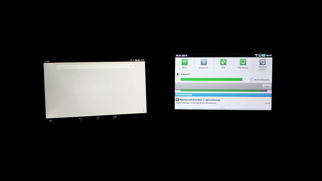 ekran ASUSA i Samsunga- ekrany na maksymalnym podświetleniu...