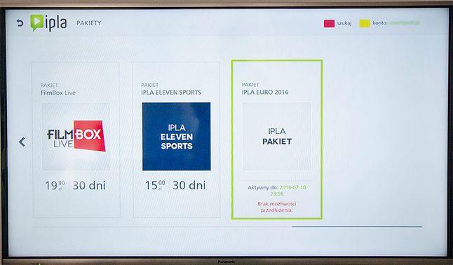 Klient ipla w telewizorze Panasonic