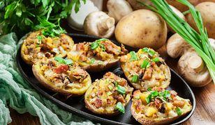 Ziemniaki nadziewane mięsem mielonym
