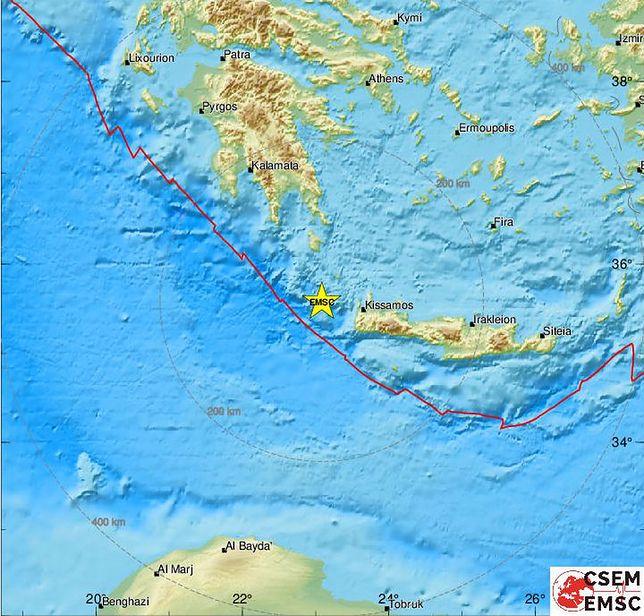 Silne trzęsienie ziemi w Grecji