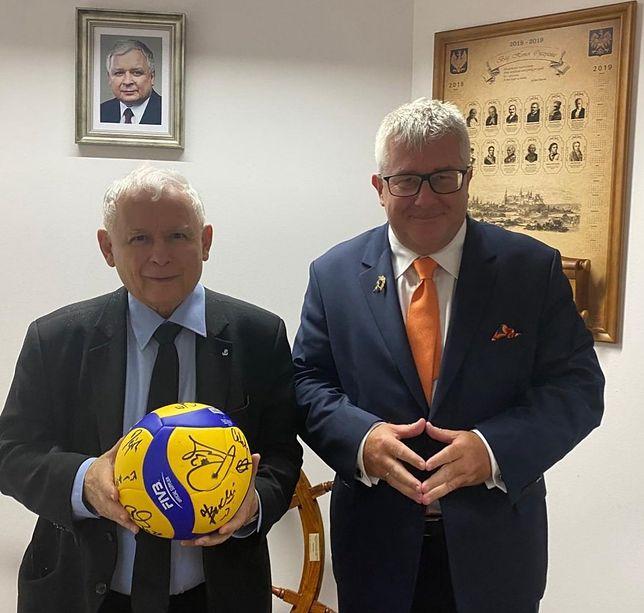 Jarosław Kaczyński i Ryszard Czarnecki