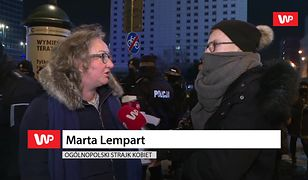 Strajk Kobiet w Warszawie. Marta Lempart krytykuje działania policji. Dostało się Jarosławowi Kaczyńskiemu