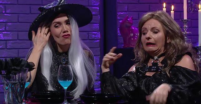 Olga Bołądź w ostatnim skeczu, w którym cztery czarownice wypiły serum prawdy