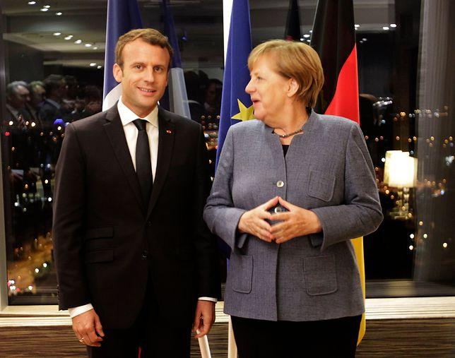 Merkel pozytywnie o propozycji Macrona