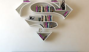 Pomysłowe półki na książki. Nie tylko dla superbohaterów