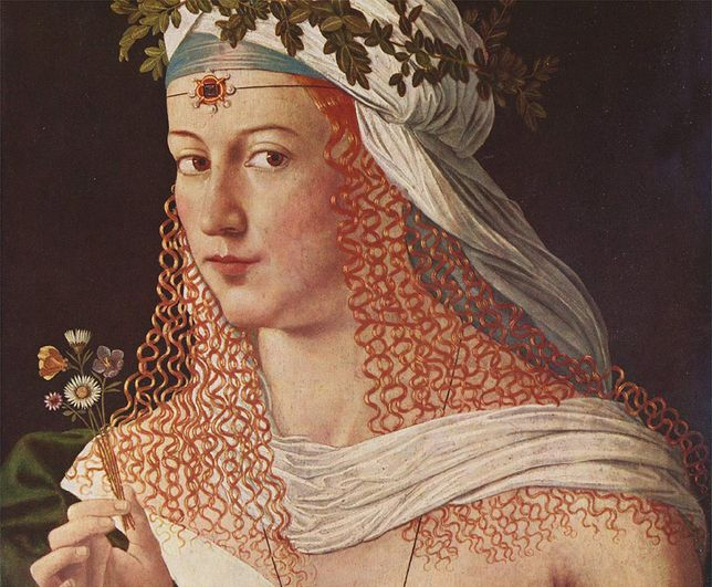 Portret autorstwa Bartolomeo Veneto, przedstawiający prawdopodobnie Lukrecję Borgię