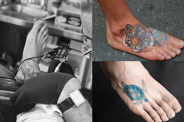 Wzory tatuaży na stopach