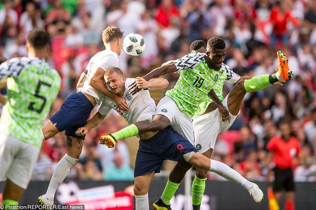 Piłkarze Anglii i Nigerii podczas meczu, 2 czerwca 2018 r.