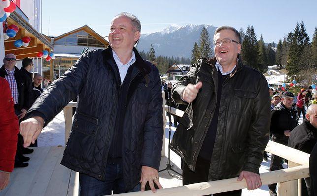 Prezydent RP Bronisław Komorowski i prezydent Słowacji Andrej Kiska