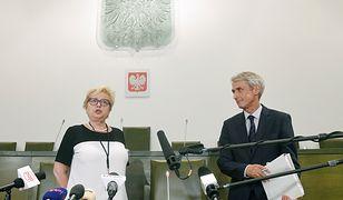 Rzecznik Sądu Najwyższego Michał Laskowski tłumaczy prezes Małgorzatę Gersdorf.