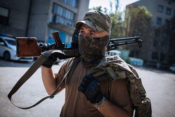 Członek ukraińskiego batalionu ochotniczego
