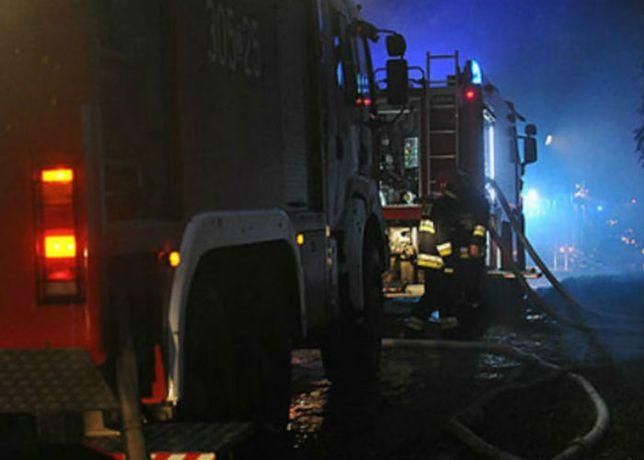 Na miejscu pracowało siedem zastępów straży pożarnej