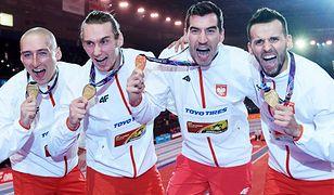 Złota sztafeta 4x400 metrów w składzie: Jakub Krzewina, Karol Zalewski, Rafał Omelko i Łukasz Krawczuk