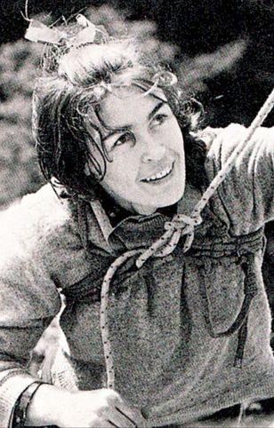 Wanda Rutkiewicz na Krzywej Turni w Sokolikach