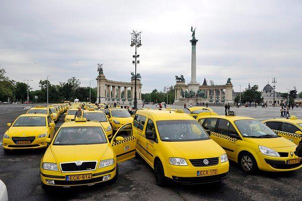 Kolejny protest taksówkarzy na Węgrzech