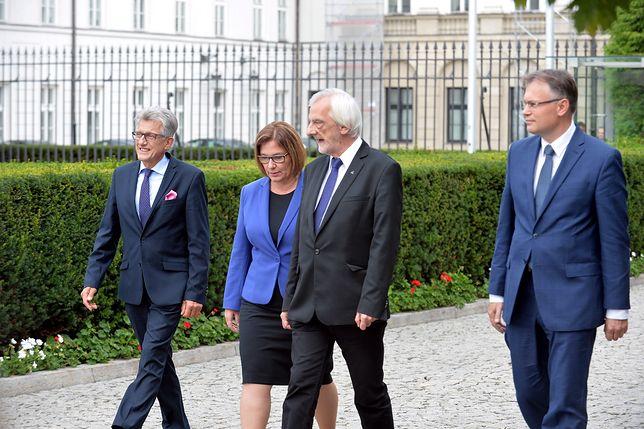 Przedstawiciele PiS po spotkaniu z prezydentem