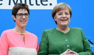 Annegret Kramp-Karrenbauer i Angela Merkel. Przyszła i obecna kanclerz Niemiec?