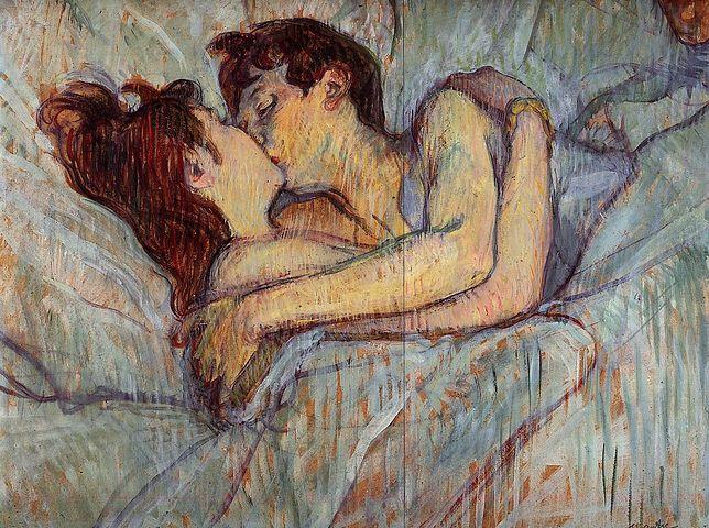 """Zdaniem wielu przedwojennych postępowców nie mogło być mowy o wspólnej sypialni. Na ilustracji obraz Henriego de Toulouse-Lautreca pt. """"W łóżku""""."""