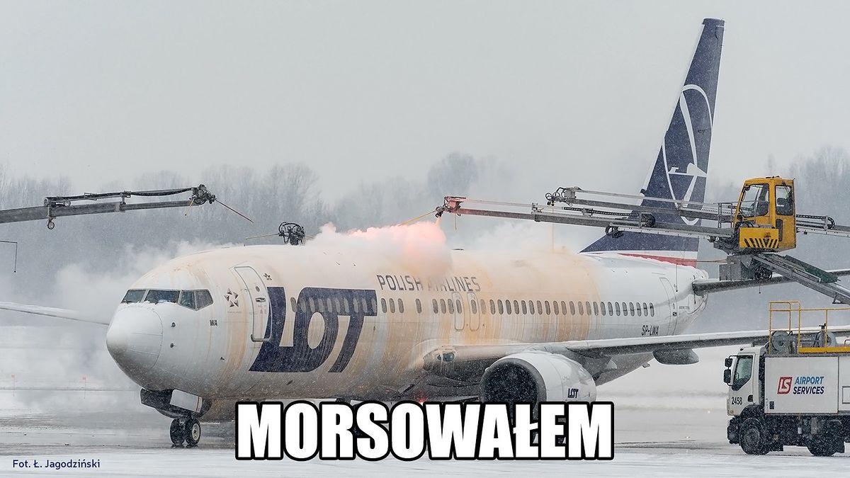 Samoloty PLL Lot też morsują.