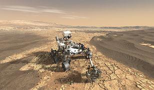 Łazik Mars 2020 na wizualizacji