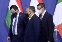 """Spotkanie Morawieckiego z Orbanem i Salvini. Włoskie media o """"budowie prawicy w Europie"""""""