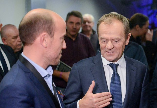 Spotkanie Donald Tusk - Borys Budka w Sopocie