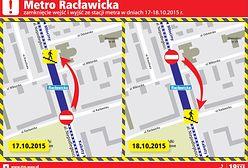 W weekend zamknięte wejścia do stacji metra Racławicka