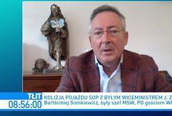 """Kolizja limuzyny SOP. Jarosław Zieliński pasażerem? """"To jest dość żałosna postać"""""""