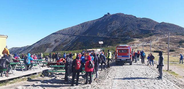 Turyści utrudniali akcję ratunkową na Śnieżce
