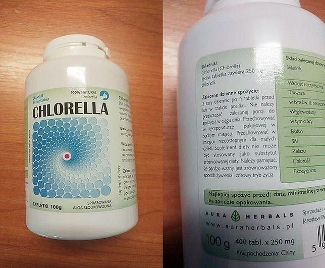 Uwaga na suplement diety Chlorella sprasowana alga słodkowodna tabletki 100 g o numerze partii 07/2020/CHT i minimalnej trwałości do 31.07.2020