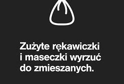 Koronawirus w Warszawie. Zużyte rękawiczki i maseczki do zmieszanych