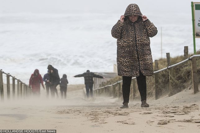Niebezpieczny orkan Fryderyka. Dramatyczne nagranie z lotniska