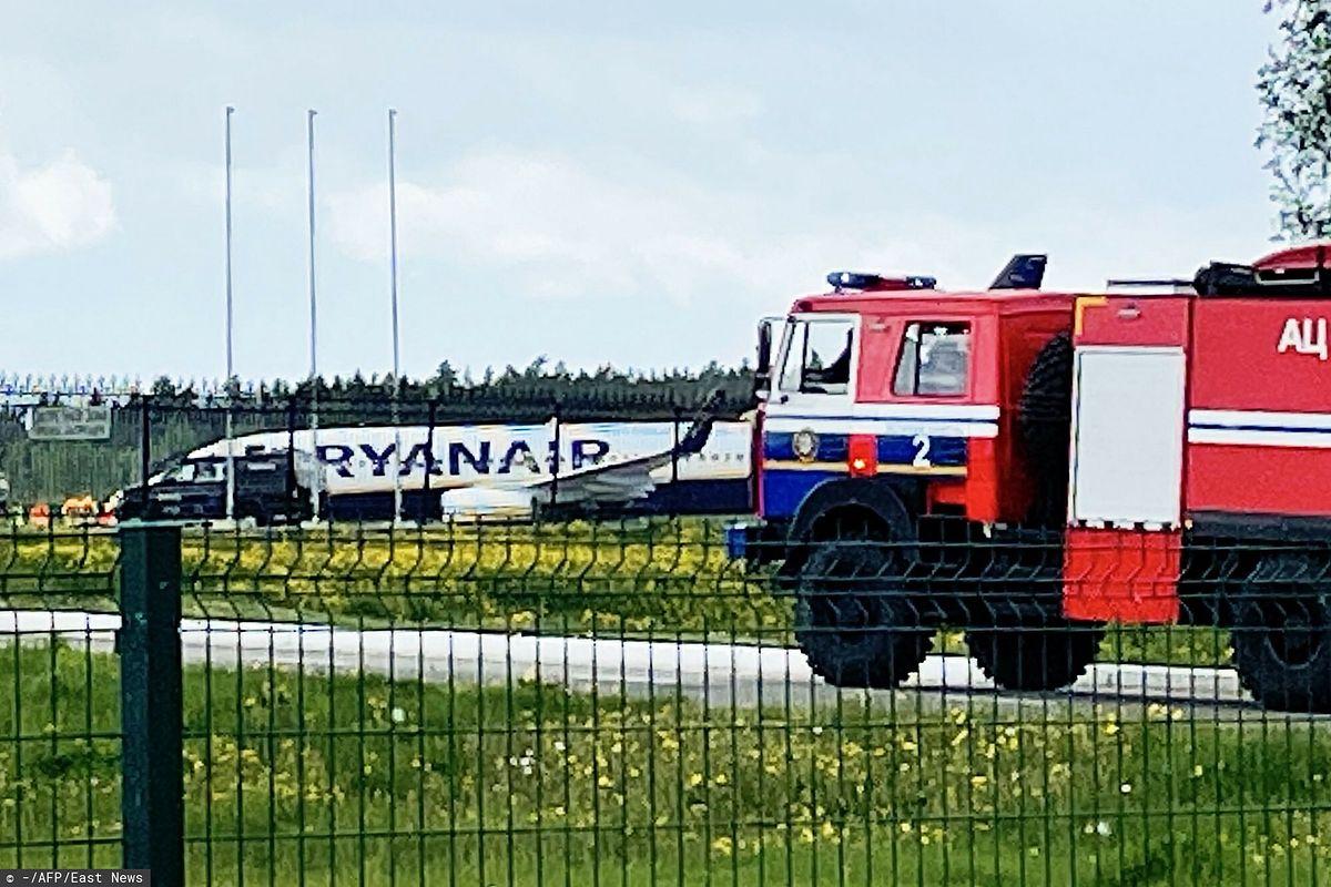Samolot, który musiał awaryjnie lądować w Mińsku, należy do polskiej spółki Ryanair Sun