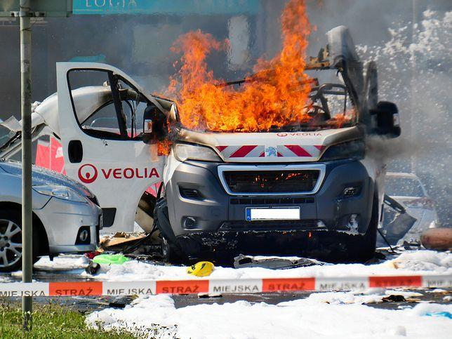 Warszawa. Do eksplozji auta doszło na Bemowie